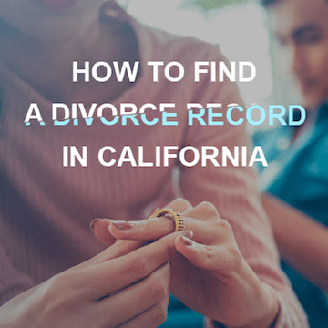 How to find a Divorce Record in California